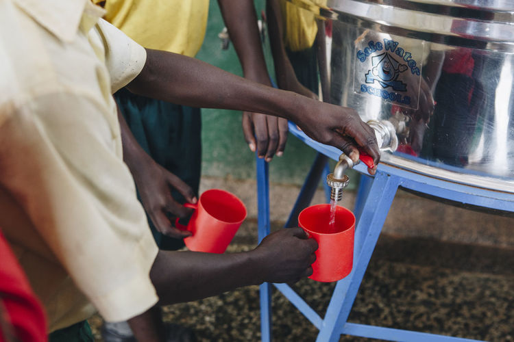 Safe drinking water at school in uganda