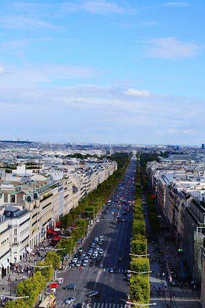 Vue Sur Paris Arc De Triomphe De L'Étoile