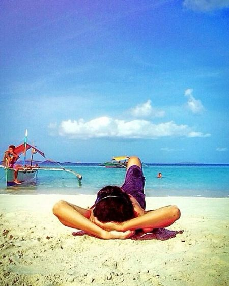 Last summer.. miss the beach.. Life Is A Beach Summer Self Portrait Beach Nature Blue Sky Travel