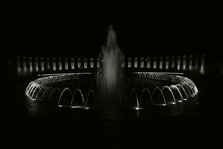 WWII Nationalmall Sightseeing Nightphotography Blackandwhite Blackandwhite Photography Shades Of Grey B&w Photography B&W Collection Monochrome