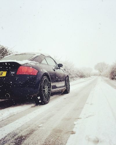 Quattro Transportation Car Road Land Vehicle No People Day Snow Winter The Way Forward