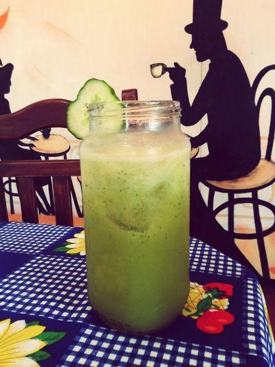 Greenjuice Enjoying Life Yummy♡ Lovethis Pepino/anana/apio/manzana/naranja♡♡♡ AlwaysLOVE♥ ♡♡♡♡ Check This Out Photography