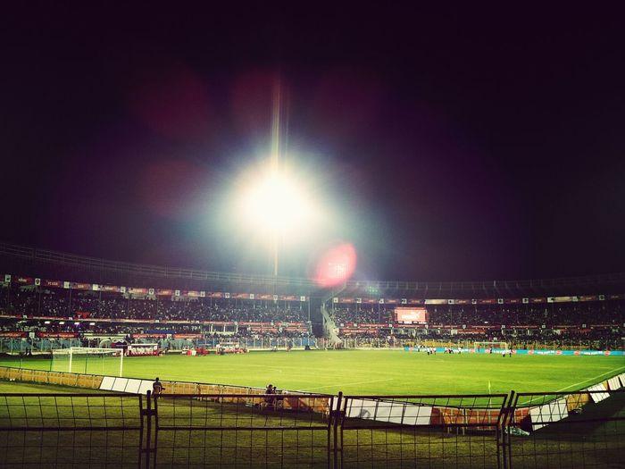 Football Game Night Lights