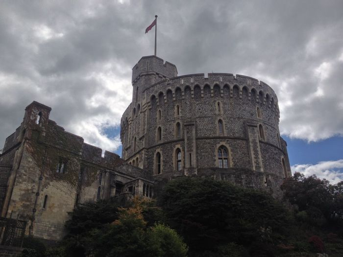 Tower Of Power Architecture Building Exterior Built Structure Cloud - Sky Day Flag History Low Angle View Nature No People Outdoors Sky Tower Of Power Travel Destinations Tree Windsor Castle Church