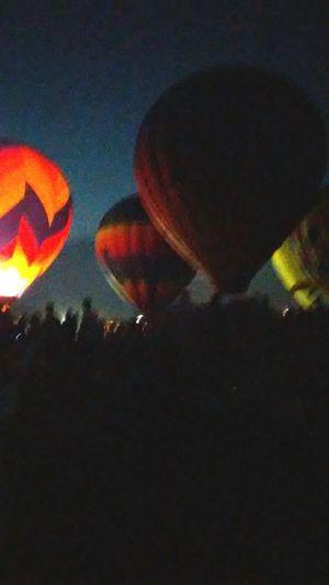Night Sky Outdoors Hot Air Balloon