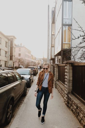 Street Riga Evening Springtime Style Women Woman Architecture City Transportation Building Exterior Mode Of Transportation Car Motor Vehicle Full Length Street Built Structure Real People Casual Clothing Two People Day Men Young Adult Adult Lifestyles City Life People