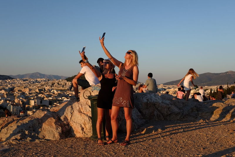 Areopagus Hill Autoportrait Candid Cellular Cellular Phone Cellularphotography City Clear Sky Colorful Female Girls Hill Lifestyles Outdoors Phone PhonePhotography Selfie Street Photography The Street Photographer - 2016 EyeEm Awards Tourism Tourists Travel Woman Young