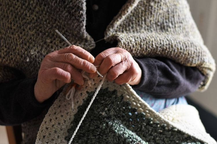 Adult Adults Only Art And Craft Close-up Craft Craftsperson Creativity Day Human Body Part Human Hand Indoors  Knitting Knitting Needle Making One Person One Woman Only Only Women People Skill  Weaving Women Wool Working