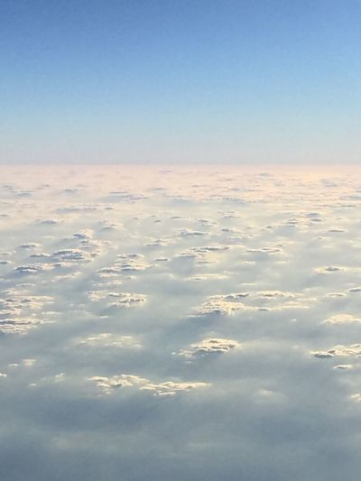 Traveling From An Airplane Window Clear Sky White Clouds High Highlife Above The Clouds Clarity Inspirational