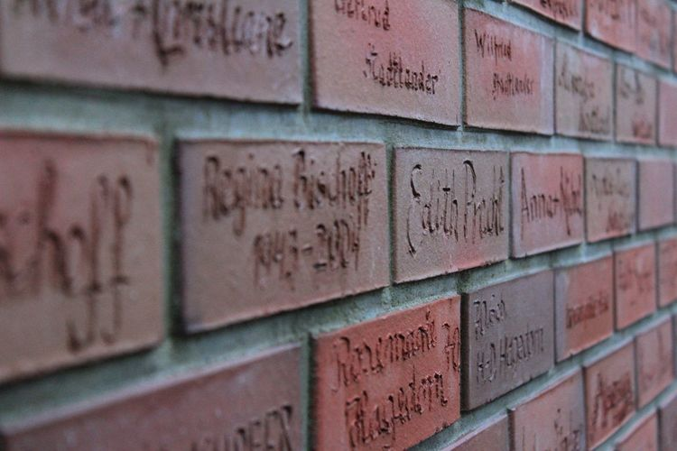 Germany Worpswede From Amsterdam To Oslo Cycling Around Photograph Close-up Architecture Brick Wall Nameplate