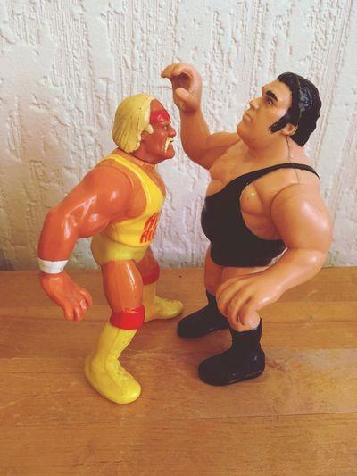 Sport Wwe Adult HulkHogan Andre Wrestling Wrestlemania Table Figure Toyphotography Toys Wallpaper 80s Pop Culture