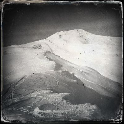 Mt. Mutegg - Monte Muta in the distance Ultental Blackandwhite Hipstamatic The_guido