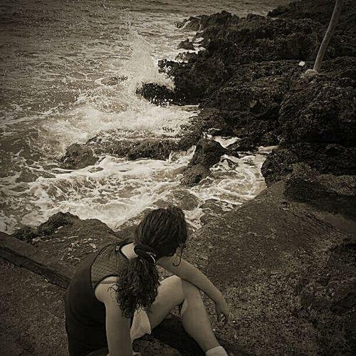 Me Silvia Sea Watching The Sea Water Fermarsi A Pensare Pensando Pensieridivita Isolated Mare Isole Tremiti Tremiti Isle Mare ❤