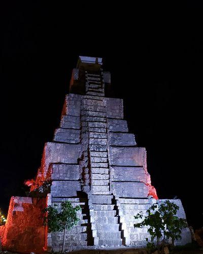 The Mobile Photographer - 2019 EyeEm Awards Illuminated Red Photograph City Pyramid Sand Architecture Sky My Best Photo The Architect - 2019 EyeEm Awards