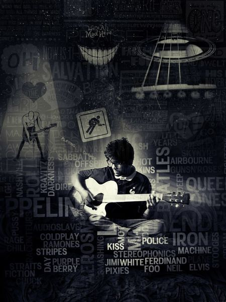 creativity is the key and knowledge is the requirement Blackandwhite Photography Mobilephotography Dark Rashedsphotography19 Graphics First Eyeem Photo Guitar Guitar Love