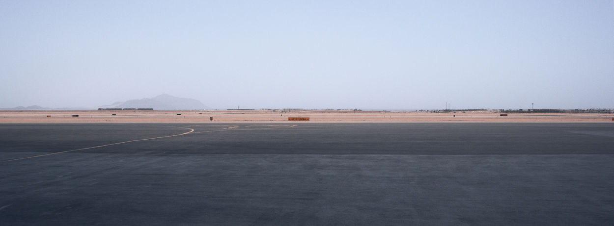 Airport Airport Runway Arid Climate Arid Landscape Colour Contrast Desert Egypt Horizon Over Land Landscape No People Outdoors Sand Sharm El Sheik