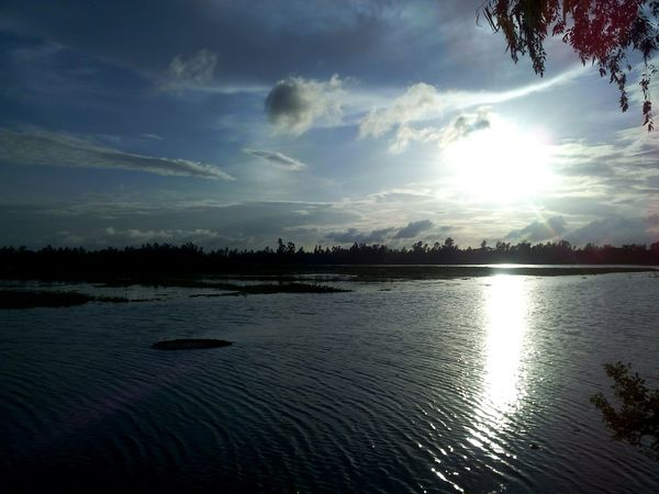 Late Afternoon Clouds And Sky Sun Reflex Water Reflections Beautiful Weather Beautifulday Evening Sky Everydaybangladesh BeautifulBANGLADESH Light And Shadow