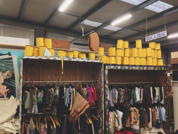 Bricabrac Fabrics Items Vintage Old-fashioned Yellow Material Emaus Recuperation Colors Photography Throwback Peezy Chic Brocante Old