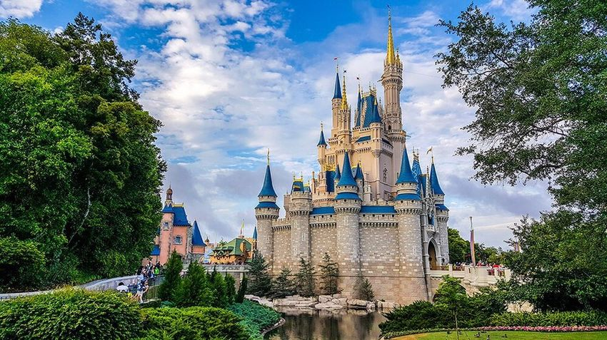 Princess castle at Disney World Orlando Florida