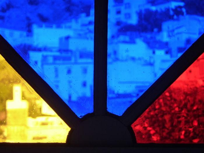 Azul Rojo Y A Color Colored Windows Colores Fenster Fenêtre Janela Marocco Marruecos Ventana Colores Vidrieras окно نافذة 窓 窗口