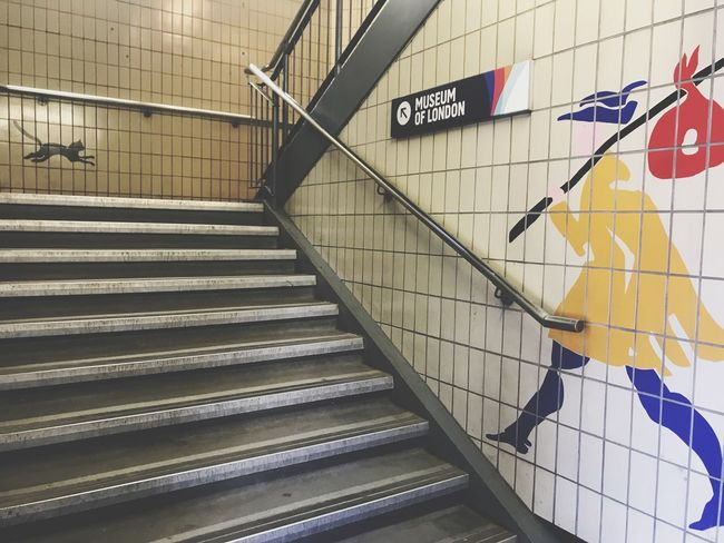 Staircase Steps And Staircases Railing Architecture Built Structure Indoors  Direction No People Public Transportation Subway Station Wall - Building Feature Sign Travel