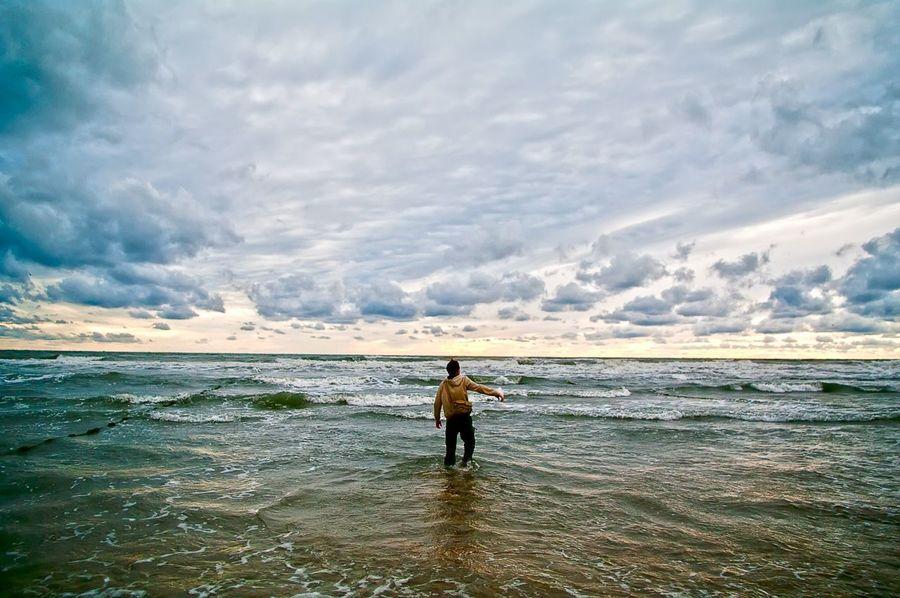 Beach Sea Clouds Storm