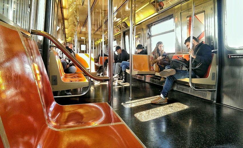 """On the F"" Subway Commuting Brooklyn NYC"