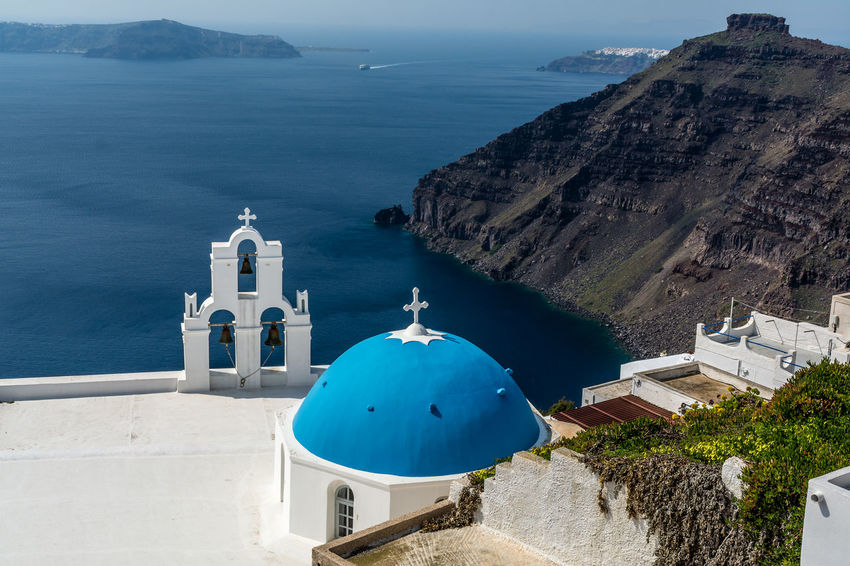 Architecture Church Fira Santorini GREECE ♥♥ Greek Islands Holiday Landscape_Collection Mediterranean  Nature Santorini, Greece Travel Travel Photography Traveling Vacations Blue Church Greece Landscape Landscape_photography Nature_collection Ocean Santorini Travel Destinations Vacation