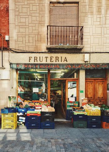 Store Retail  Building Exterior City Small Business Outdoors Architecture Business Market Food Day IPhoneography City Life SPAIN Aranda De Duero Frutería Grocery Shopping Traditional Lifestyles
