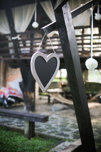 Chalk Board Love Signage Architecture Chalk Close-up Focus On Foreground Hanging Love No People Outdoors Wood - Material Wooden House Wooden Material