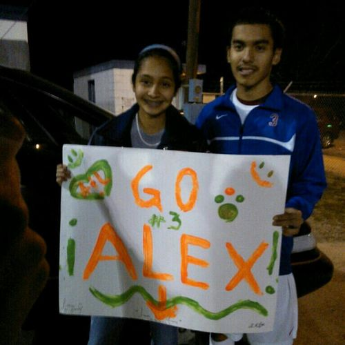 First poster anybody has ever made me!! Beasted today, scored 3 goals :) #soccer #dhspride