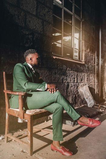 Classic-Elegant Africa Photography Freedomthinkers Fashion EyeEm EyeEm Best Shots Sitting Full Length Men Chair Old-fashioned Posing Fashion Model