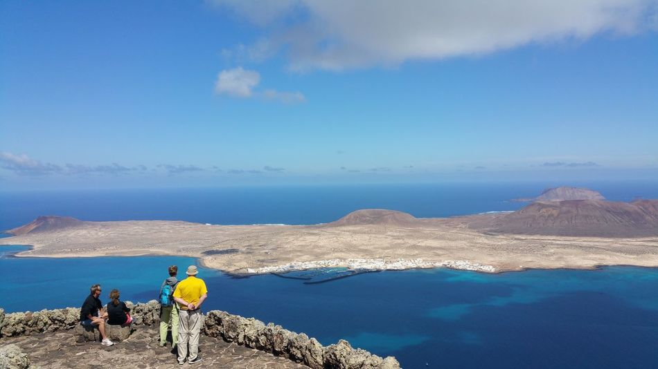 La Graciosa Lanzarote Canary Islands , Landscape Nature Vulcano Sea Sky Clouds And Sky Mountains Viewpoint Nationalpark Check This Out Taking Photos Relaxing 2016