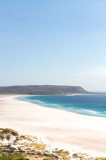 Noordhoek Beach, South Africa Beach Beauty In Nature Blue Cape Peninsula Capetown Clear Sky Day Horizon Over Water Landscape Nature No People Noordhoek Outdoors Sand Scenics Sea Sky Tranquil Scene Tranquility Travel Travel Destinations Vacations Vacations Water Wave