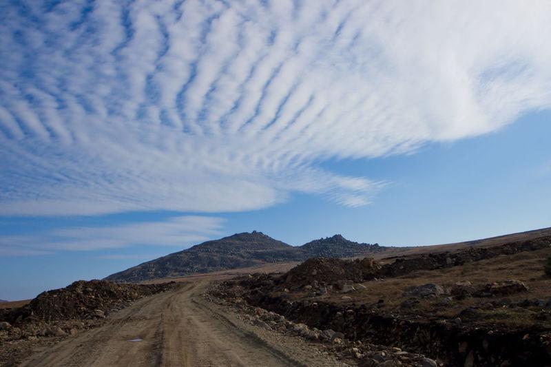 Dirt Road Along Landscape