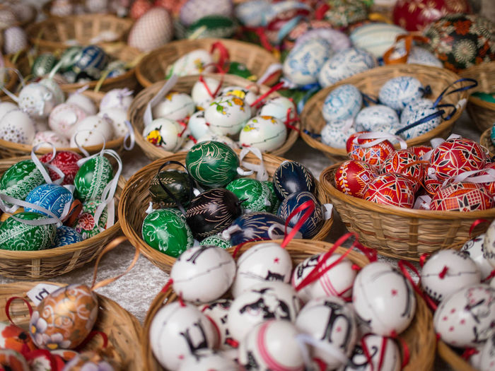 Abundance Large Group Of Objects Choice Christmas Market Full Frame No People Celebration Christmas Decoration Close-up Outdoors Day Eggs Easteregg Easter Eggs Eier Ostereier