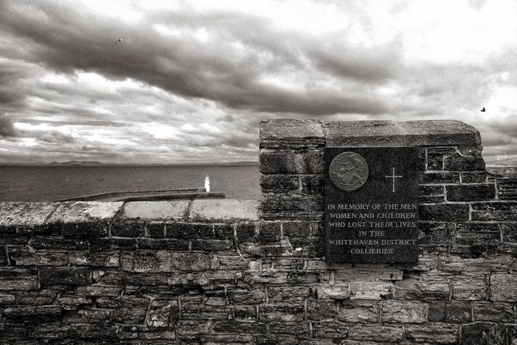 Cloud - Sky Coal History In Memory Of Men, Women And Children Killed Memorial No People Sky Whitehaven Collieries