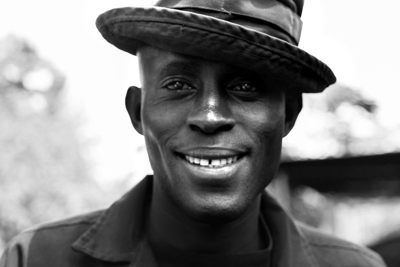 Adults Only Blackandwhite Close-up Face Front View Hat Headshot Looking At Camera One Man Only One Person One Young Man Only Only Men Portrait Real People Young Adult