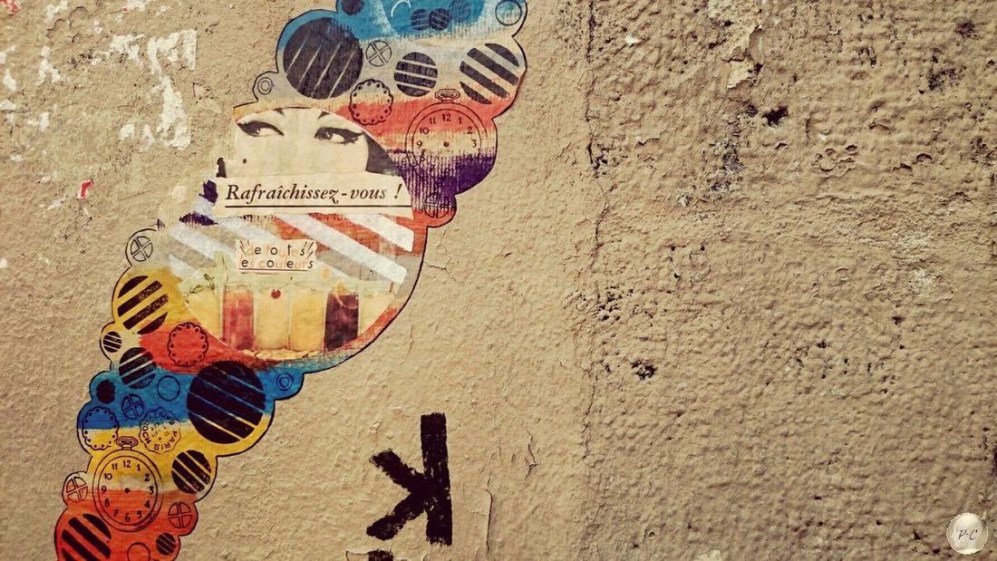 Holidays Marais Paris Tag Graffiti