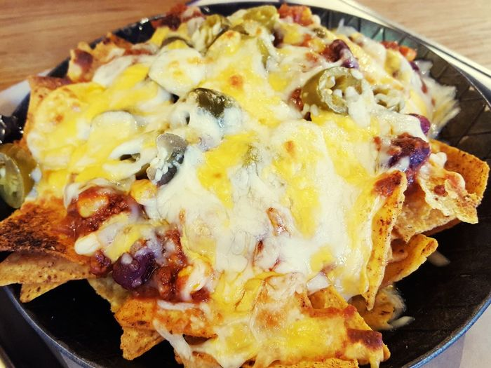 Nachos! Food Food And Drink Ready-to-eat Serving Size Plate Indoors  No People Close-up Meat Meal Post Workout Meal Temptation Nachos Nachoswithcheese Nachosandchili Nachos Time Nachoswithcheeseandjalapenos Nachos For Dinner
