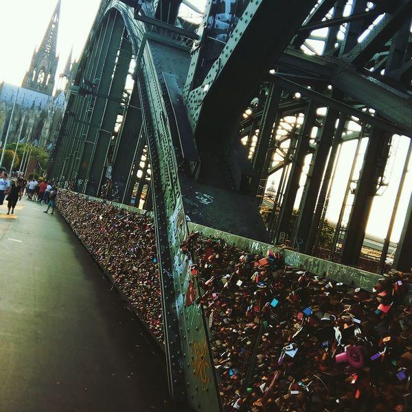 Outdoors Bridge Love Candados De Amor Forever In My Heart Forever Parasiempreamor Train Köln Germany Colonia Alemania Catedral De Colonia