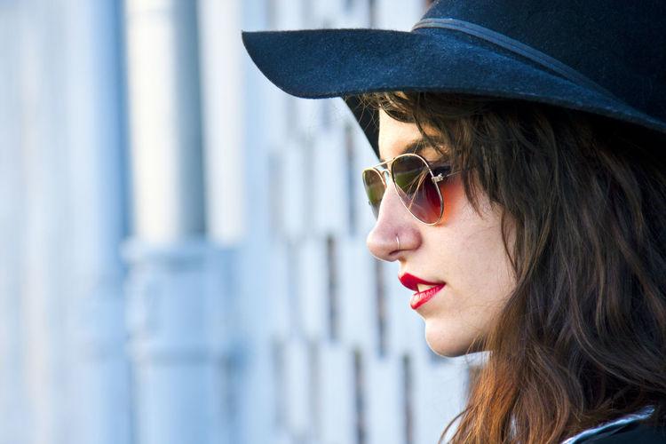 Portrait of young urban fashion girl