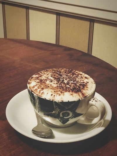Cappuccino Cup And Saucer Cappuccino Coffee Table Indoors  Coffee - Drink Coffee Cup Still Life Food Indulgence Drink Frothy Drink