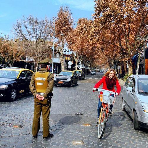Carabinerosdechile Chile Férias Inverno Bicicleta Liberdade Bike