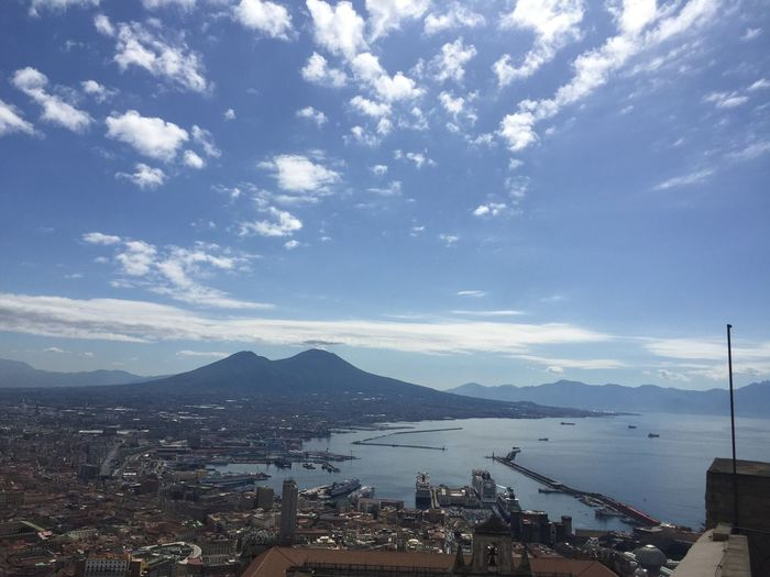 Beauty In Nature Blue City Cityscape Cloud - Sky Day Mountain Nature Sky Vesuvio Water
