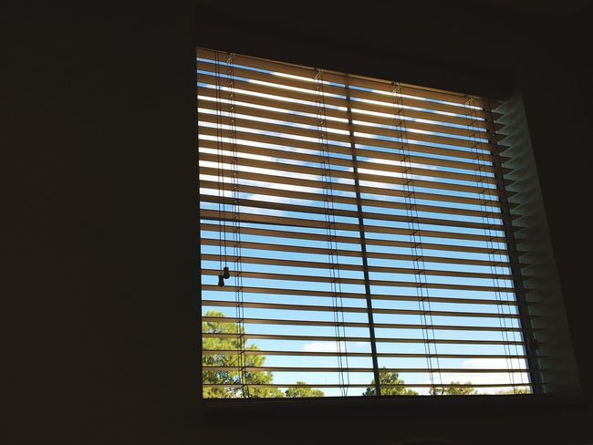 Cloudy Inside Looking Out Window Indoors  Blinds Closed Darkroom Day Dark Blue No People Dramatic Sky