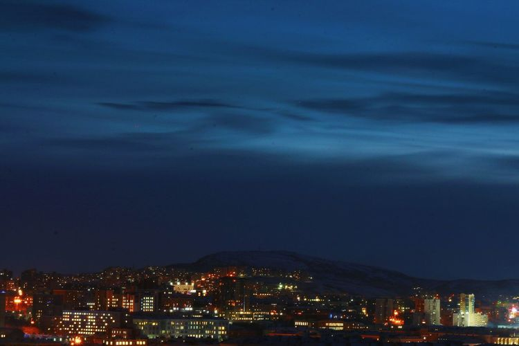 King of a hill. Night Cityscapes City Lights Murmansk North