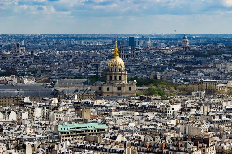 City Cityscape Government Politics And Government Architecture Travel Destinations Dome Aerial View Business Finance And Industry Building Exterior Outdoors No People Sky Day Eiffel Tower Paris, France  Paris, France  Tourism Vacations Close-up Cityscape City Landscape Travel Architecture