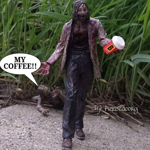 First her bike, now this..... Biggby Coffeeordeath Coffee Nocoffeenoworky Biggbyleonardfuller Biggbycoffee  Amcthewalkingdead TWD Bicyclegirl