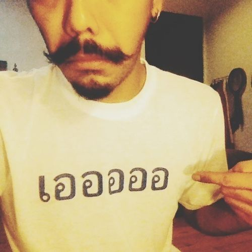 T-shirt Arisandnath Here In My Room Mustache